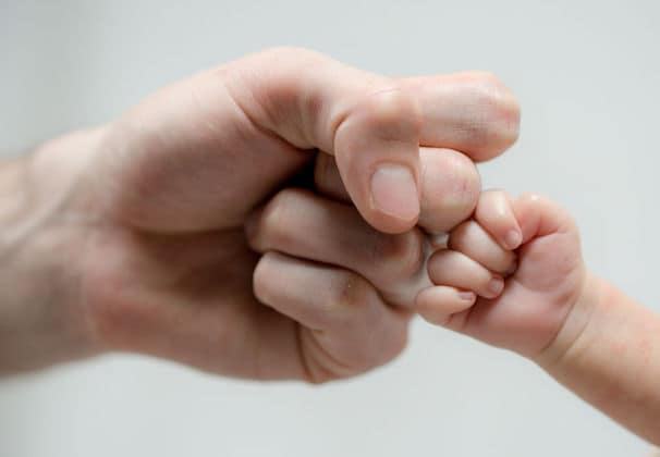 Dad and Baby Fist bump