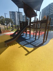south village gated (fully-fenced)playground at Kirrawee in Sydney's Sutherland Shire