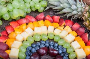 Fun food. Fruits rainbow