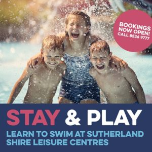 Stay and Play promotion at the Sutherland Shire Leisure Centres