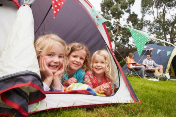 camping kids family holiday