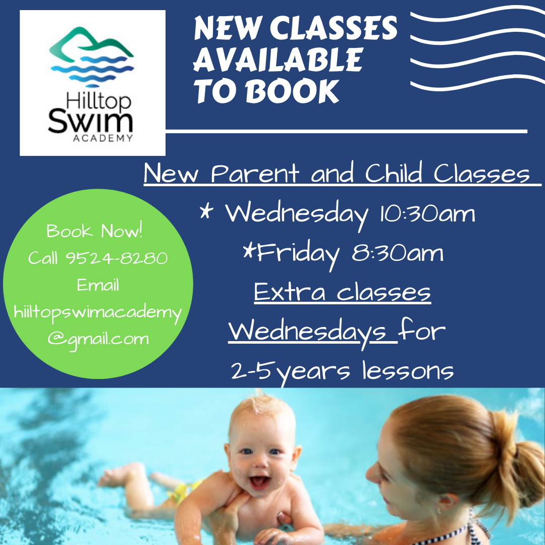 New Classes Available Wednesday Parent and Child 10_30am Friday Parent and Child 8_30am NEW Learn to Swim Classes Added Wednesdays.png