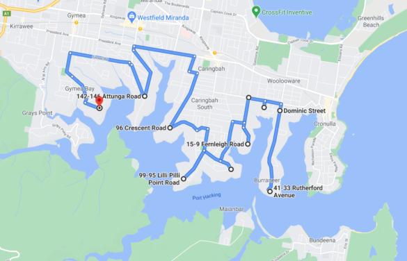 Burraneer Bay - Gymea Bay (35mins one-way)