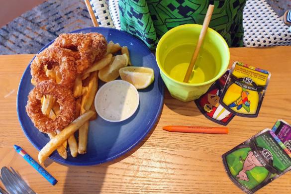 Kids calamari and chips at bundeena csc