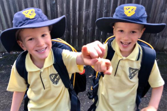 Multiple births - school twins