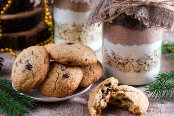 cookie mix in a jar with cookies