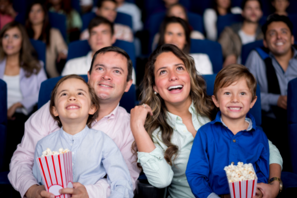 family at the cinema/movies