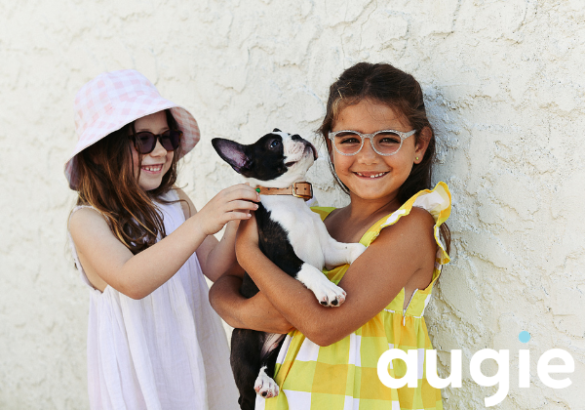 Young girls wearing Augie Eyewear for Kids in the Shire