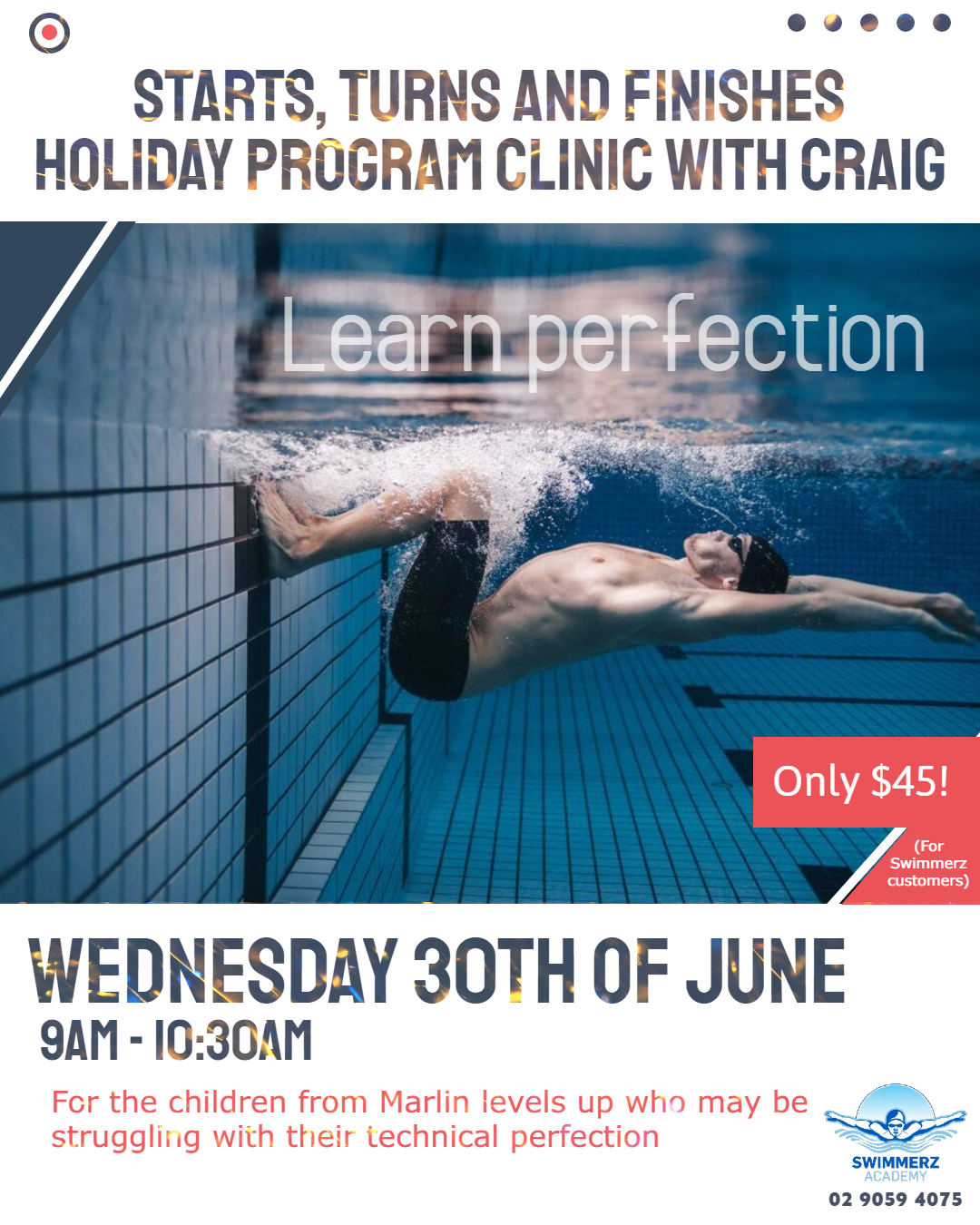 Swimmerz Academy – July School Holiday Intensive Swimming Program