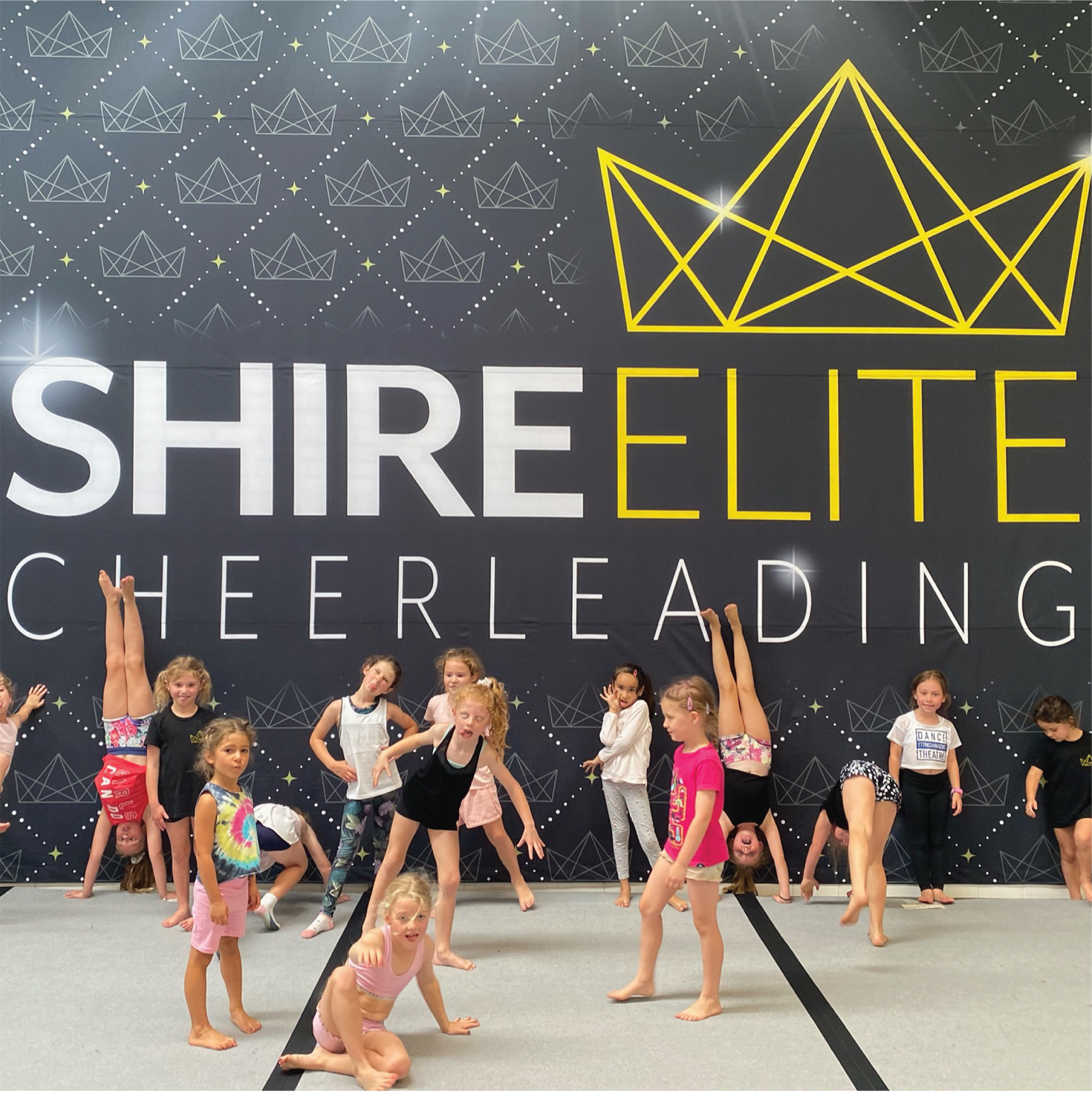 Shire Elite Cheerleading kids participating in class